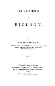"""""""The"""" principles of biology"""