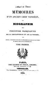 Mémoires de Billard de Veaux (Alexandre): ancien chef vendéen, ou Biographie des personnes marquantes de la chouannerie et de la Vendée