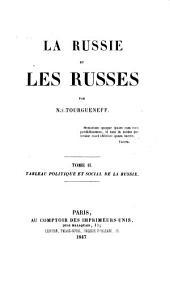 La Russie et les russes: Volume2