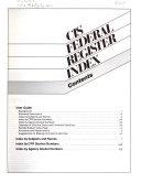 CIS Federal Register Index