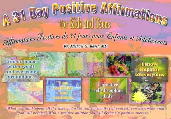 A 31 Day Positive Affirmations for Kids and Teens