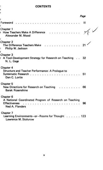 How Teachers Make a Difference PDF