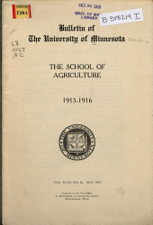The Bulletin of the University of Minnesota