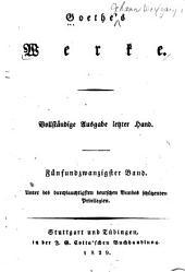 Goethes Werke: Band 25