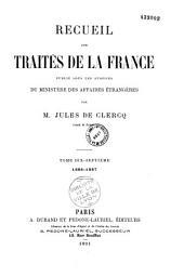 Recueil des traités de la France publié sous les auspices du Ministère des Affaires étrangères
