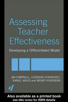 Assessing Teacher Effectiveness PDF