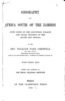 Geography of Africa South of the Zambesi PDF