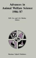 Advances in Animal Welfare Science 1986/87