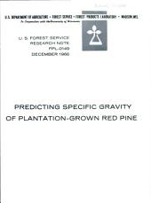 Predicting specific gravity of plantation-grown red pine