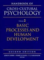 Handbook of Cross cultural Psychology  Basic processes and human development PDF