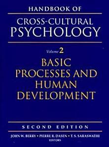 Handbook of Cross cultural Psychology  Basic processes and human development Book