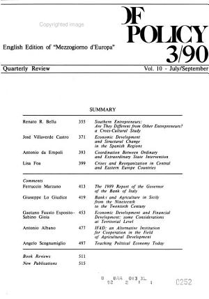 Journal of Regional Policy