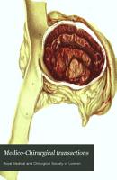 Medico Chirurgical Transactions PDF