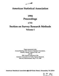 Proceedings of the Section on Survey Research Methods PDF