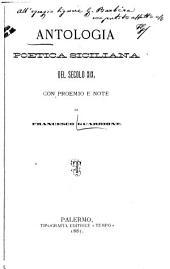 Antologia poetica siciliana del secolo XIX: con proemio e note