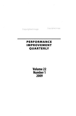 Performance Improvement Quarterly PDF