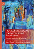 The Capability Approach  Empowerment and Participation PDF