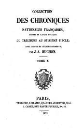 Les chroniques de Jean Froissart: Volume10