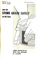 You Can Store Grain Safely on the Farm PDF