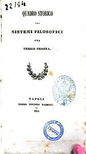 Quadro storico dei sistemi filosofici di Enrico Pessina