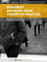 Dishonest Behavior  From Theory to Practice PDF