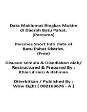 Parishes Short Info Data of Batu Pahat District. ( Free Edition ~ English & Malay )
