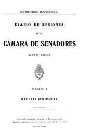 Diario de sesiones de la Cámara de Senadores: Volumen 1