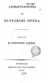 Animadversiones in Plutarchi opera