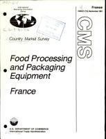 Food Processing and Packaging Equipment  France PDF