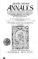 Gestis Silesiae Annales PDF