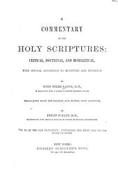 Commentary on the Holy Scriptures: Volume 6