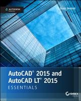 AutoCAD 2015 and AutoCAD LT 2015 Essentials PDF
