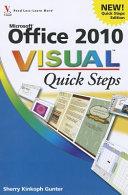 Office 2010 Visual Quick Steps PDF