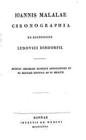 Ioannis Malalae Chronographia