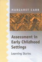 Assessment in Early Childhood Settings PDF
