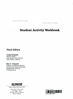 Entering the World of Work Student Activity Workbook PDF