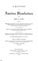 A History of American Manufactures  from 1608 to 1860 PDF