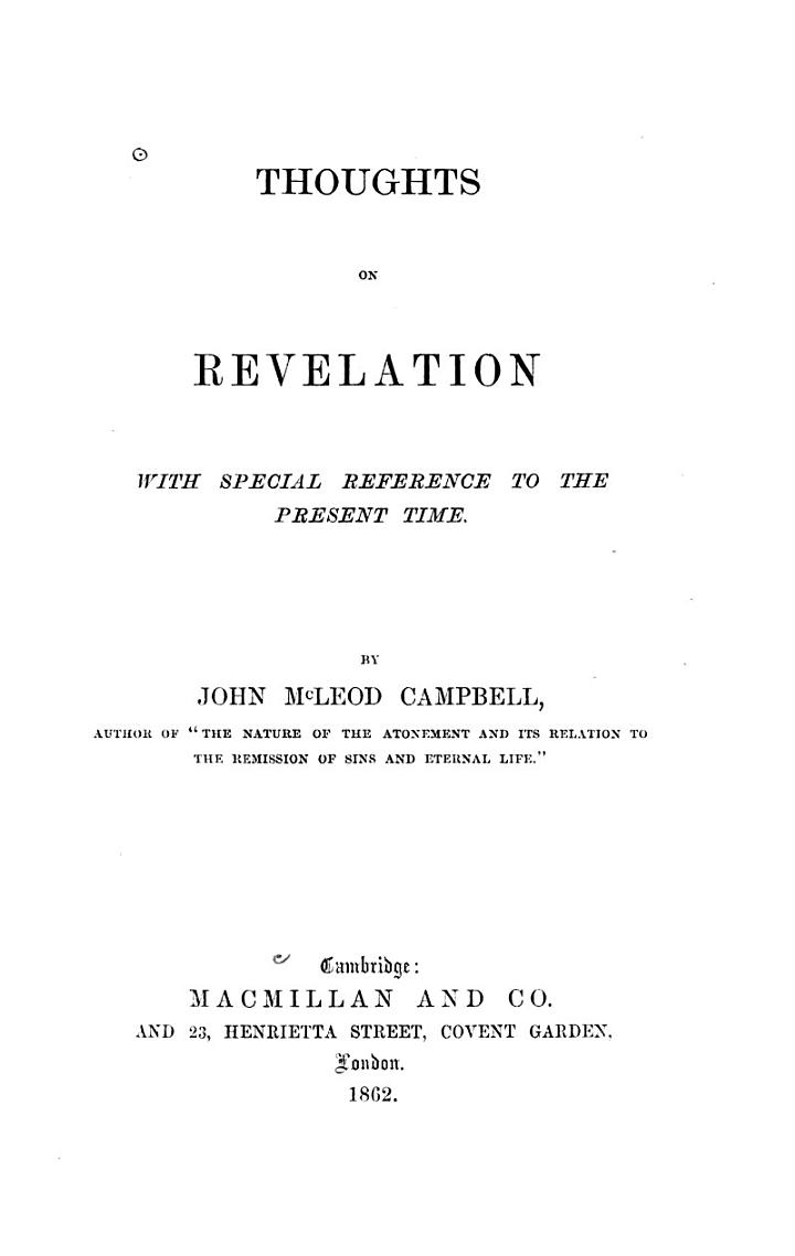 Thoughts on Revelation