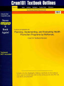 Studyguide for Planning  Implementing  and Evaluating Health Promotion Programs by Mckenzie and Smeltzer PDF