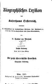 Biographisches lexikon des kaiserthums Oesterreich: enthaltend die lebensskizzen der denkwürdigen personen, welche seit 1750 in den österreichischen kronländern geboren wurden oder darin gelebt und gewirkt haben, Band 2