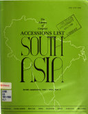 Accessions List  South Asia  Serials Supplement PDF