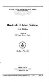 Handbook of labor statistics: Volume 2