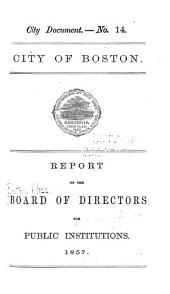 Annual Report of the Board of Directors for Public Institutions: Volumes 1-10