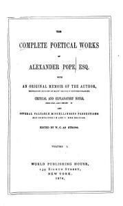 The Complete Poetical Works of Alexander Pope Book