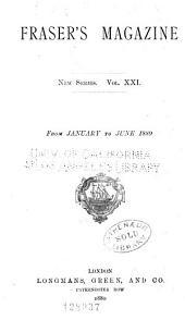 Fraser's Magazine: Volume 21