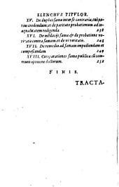 Tractatvs De Fama Pvblica Marquardi Freheri ...