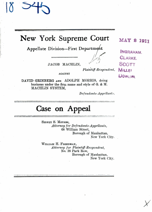 New York Supreme Court Appellate Division  First Department Case On Appeal PDF
