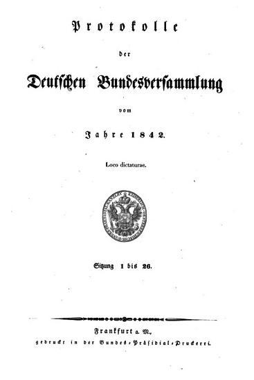 Protokolle der Deutschen Bundesversammlung PDF