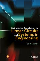 Mathematical Foundations for Linear Circuits and Systems in Engineering PDF