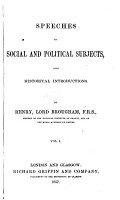 Works of Henry  Lord Brougham  Speeches on social and political subjects PDF